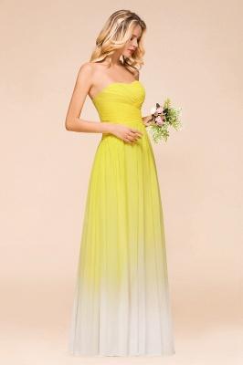 Gelb Brautjungfernkleider Chiffon | Schöne Kleider Brautjungfer_7
