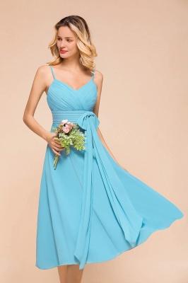 Chiffon Brautjungfernkleider Kurz | Blaue Kleider Für Brautjungfern_8