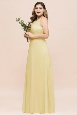Gelb Brautjungfernkleider Große Größe | Chiffon Kleider Günstig_8