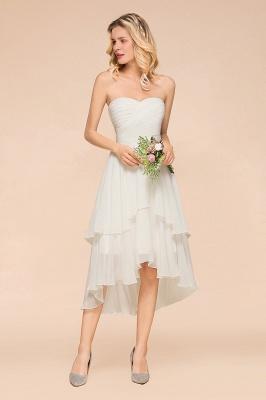 Weiße Brautjungfernkleider Kurz | Brautmutterkleid Günstig_4