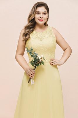 Gelb Brautjungfernkleider Große Größe | Chiffon Kleider Günstig_7