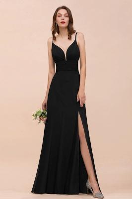 Elegante Brautjungfernkleider Lang Schwarz | Chiffon Kleider Günstig