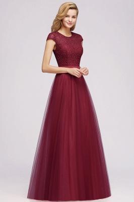 Abendkleid Rot Lang Günstig | Langes Kleid Spitze_7