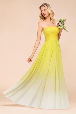 Gelb Brautjungfernkleider Chiffon | Schöne Kleider Brautjungfer_5