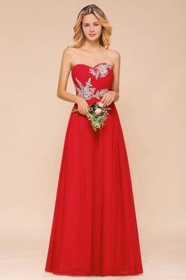 Rote Brautjungfernkleider Lang | Chiffon Kleider Günstig_1