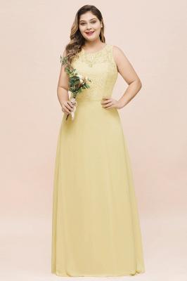 Gelb Brautjungfernkleider Große Größe | Chiffon Kleider Günstig_1