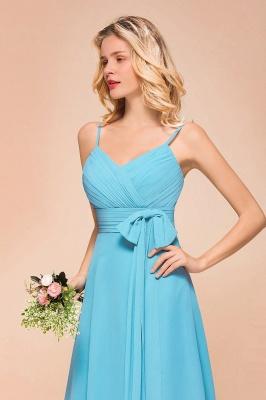 Chiffon Brautjungfernkleider Kurz | Blaue Kleider Für Brautjungfern_9