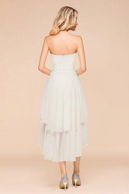 Weiße Brautjungfernkleider Kurz | Brautmutterkleid Günstig_3