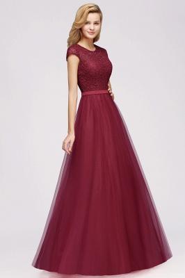 Abendkleid Rot Lang Günstig | Langes Kleid Spitze_8
