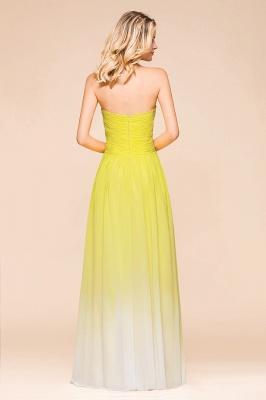 Gelb Brautjungfernkleider Chiffon | Schöne Kleider Brautjungfer_3