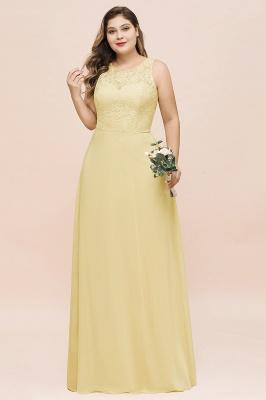 Gelb Brautjungfernkleider Große Größe | Chiffon Kleider Günstig_6
