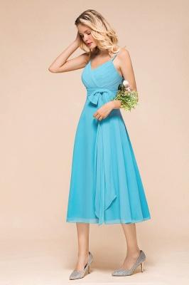 Chiffon Brautjungfernkleider Kurz | Blaue Kleider Für Brautjungfern_6