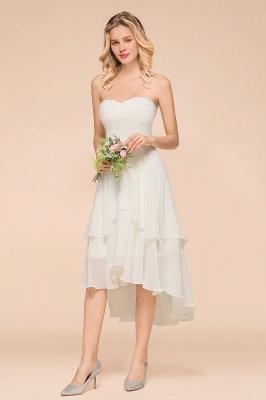 Weiße Brautjungfernkleider Kurz | Brautmutterkleid Günstig_7
