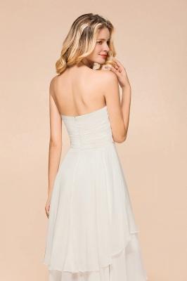 Weiße Brautjungfernkleider Kurz | Brautmutterkleid Günstig_9