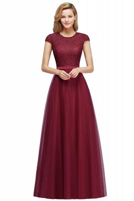 Abendkleid Rot Lang Günstig | Langes Kleid Spitze_2