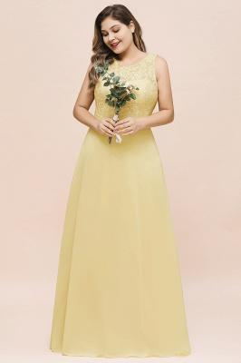 Gelb Brautjungfernkleider Große Größe | Chiffon Kleider Günstig_4
