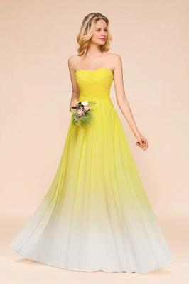 Gelb Brautjungfernkleider Chiffon | Schöne Kleider Brautjungfer_6