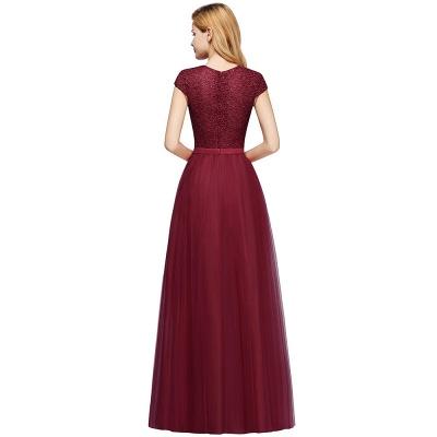 Abendkleid Rot Lang Günstig | Langes Kleid Spitze_11