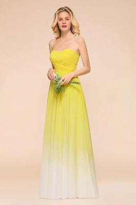 Gelb Brautjungfernkleider Chiffon | Schöne Kleider Brautjungfer_4