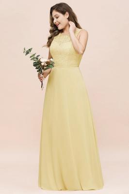 Gelb Brautjungfernkleider Große Größe | Chiffon Kleider Günstig_5