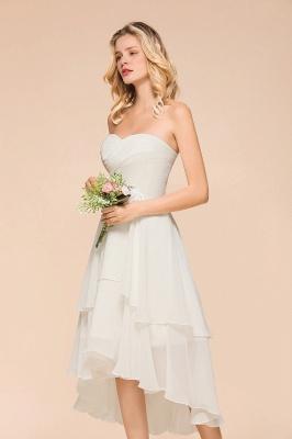 Weiße Brautjungfernkleider Kurz | Brautmutterkleid Günstig_6
