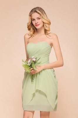 Brautjungfernkleider Kurz Mint | Hochzeitspartykleider Chiffon Günstig_5