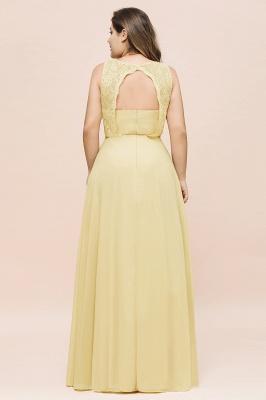Gelb Brautjungfernkleider Große Größe | Chiffon Kleider Günstig_3