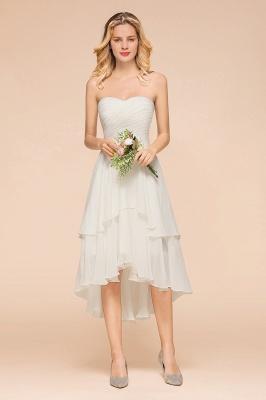 Weiße Brautjungfernkleider Kurz | Brautmutterkleid Günstig_5