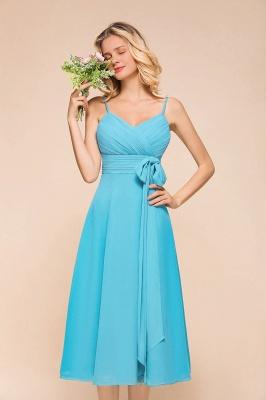 Chiffon Brautjungfernkleider Kurz | Blaue Kleider Für Brautjungfern_5