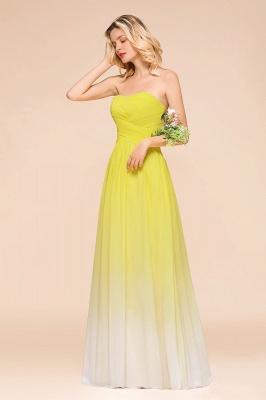 Gelb Brautjungfernkleider Chiffon | Schöne Kleider Brautjungfer_8