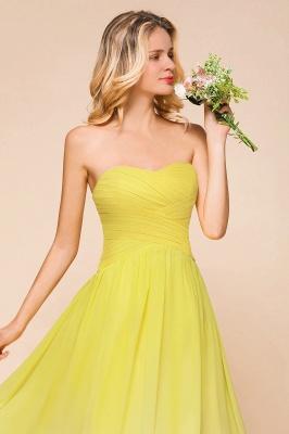 Gelb Brautjungfernkleider Chiffon | Schöne Kleider Brautjungfer_9