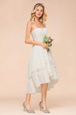Weiße Brautjungfernkleider Kurz | Brautmutterkleid Günstig_8