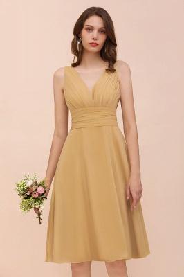 Brautjungfernkleider Gold | Kurzes Brautjungfernkleid Günstig_9