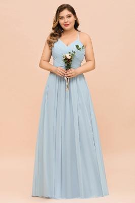 Brautjungfernkleider Große Größe   Brautjungfernkleid Lang Heller Blau_8