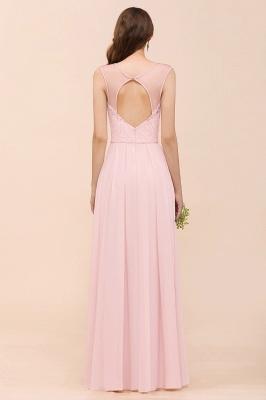 Elegante Brautjungfernkleider Lang Rosa | Hochzeitspartykleider Online_3
