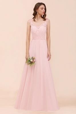 Elegante Brautjungfernkleider Lang Rosa | Hochzeitspartykleider Online_4
