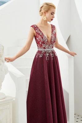 Schlichte Abendkleider Lang Rot | Abiballkleider Online_8