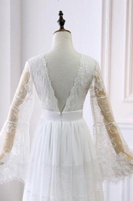 Elegante Hochzeitskleider mit Ärmel | Brautkleid Spitze Online_5