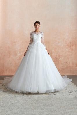 Modern Brautkleid Mit Ärmel   Standesamt Kleid Hochzeitskleider_5