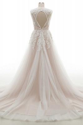 Brautkleider A Linie V Ausschnitt | hochzeitskleid standesamt_3