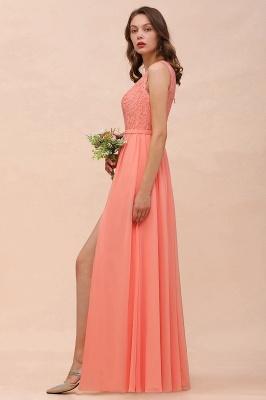 Orange Brautjungfernkleider Günstig | Lange Kleider Für Brautjungfern_8