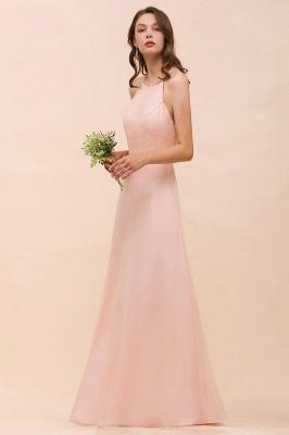 Schöne Brautjungfernkleider Lang Rosa | Hochzeitspartykleider Günstig_6