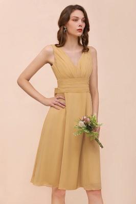 Brautjungfernkleider Gold | Kurzes Brautjungfernkleid Günstig_6