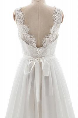 Schlichte Brautkleid mit Spitze | Hochzeitskleid A Linie_6
