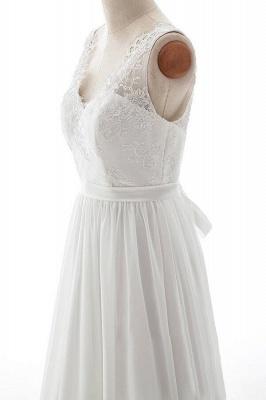 Schlichte Brautkleid mit Spitze | Hochzeitskleid A Linie_5