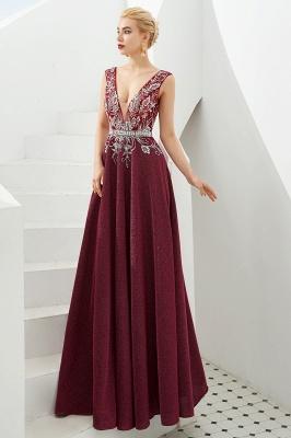Schlichte Abendkleider Lang Rot | Abiballkleider Online_9