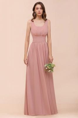 Brautjungfernkleider Lang Altrosa | Chiffon Hochzeitspartykleider_6