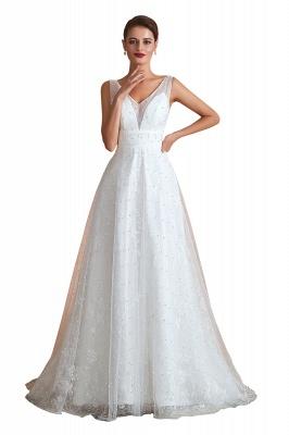 Schöne Hochzeitskleider A linie | Standesamt Brautkleid Tüll_1