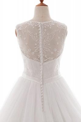 Weiße Brautkleid A Linie | Hochzeitskleider Mit Spitze_6