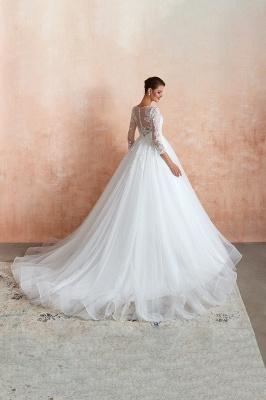 Modern Brautkleid Mit Ärmel   Standesamt Kleid Hochzeitskleider_4